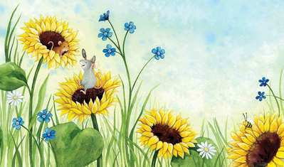 mice-playing-in-sunflowers-soft-cute-watercolour-gailyerrill-jpg