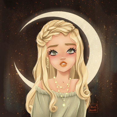 lady-and-moon
