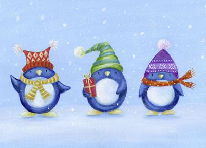 penguins-present-hats-scarfs-snow-jpg