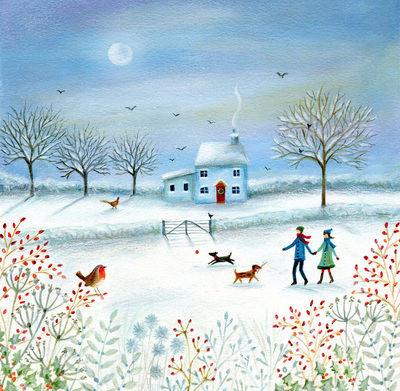 christmas-scene-winter-walk-moon-house-dog-robin-tree-jpg