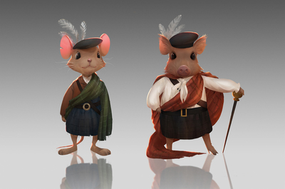 animals-mouse-boar-scotland-scottish-traditional-clothes-jpg