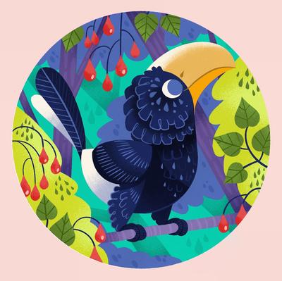 hornbill-jungle-bird-leaves-jpg