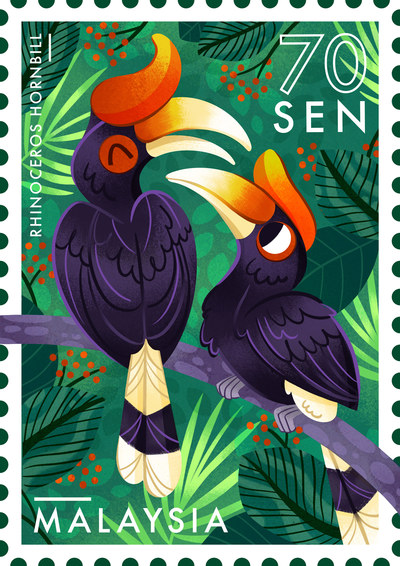 hornbill-stamp-malaysia-bird-jungle-jpg