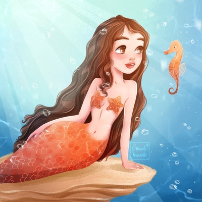 orange-mermaid