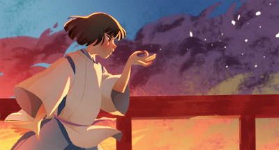 fanart-spirited-away-male-boy-fantastic-magic-japan-medieval-bridge-sunset-cotume-kimono-jpg