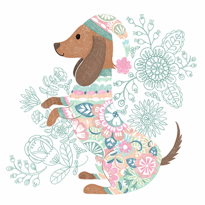 floral-patterned-dachshund-jpg