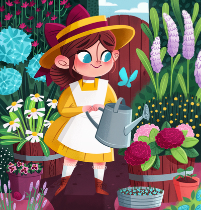 garden-girl-flowers-dress-plants-bugs-jpg