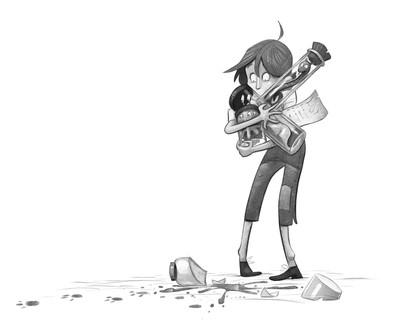 braden-hallett-apprentice-drop-jar-magical-monsters-jars-fantasy-teen-accident-greyscale-spot-illustration-jpg