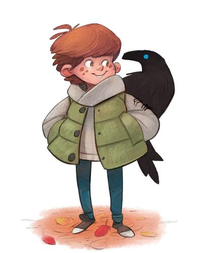 braden-hallett-aidan-and-the-raven-autumn-boy-raven-colour-spot-illustration-leaves-jpg