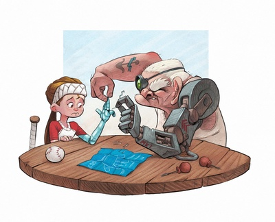 braden-hallett-fixing-the-robot-arm-girl-grandpa-scifi-prosthetic-cyberarm-old-new-tech-colour-spot-illustration-jpg