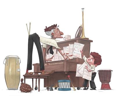 braden-hallett-music-teacher-man-boy-music-drums-piano-sheetmusic-frantic-colour-spotillustration-jpg
