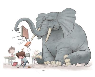 braden-hallett-the-elephant-was-back-school-classroom-elephant-unhappy-colour-jpg