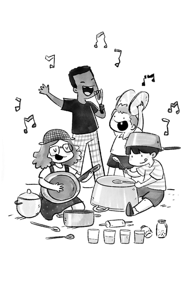 boy-girl-children-kitchen-band-jpg