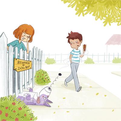 boy-girl-dog-robot-smell-hotdog-jpg