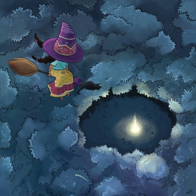 witch-forest-night-fly-broom-cat-jpg