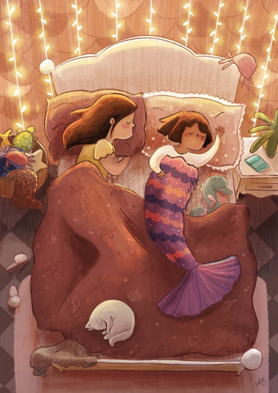 girl-sleep-mermaid-mermay-blanket-cpzy-fairy-lights-jpg