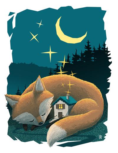 fox-night-star-moon-house-jpg