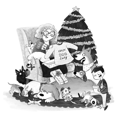 b-w-old-lady-grandma-boy-christmas-dogs-presents-christmas-tree-jpg