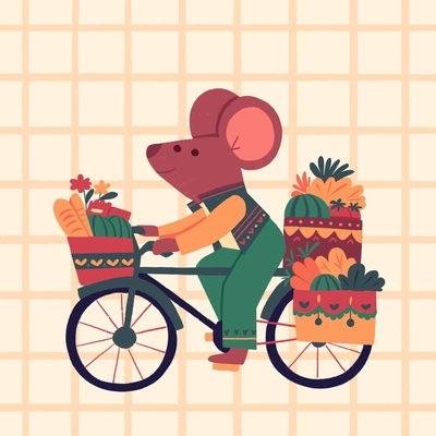 mouse-on-a-bike
