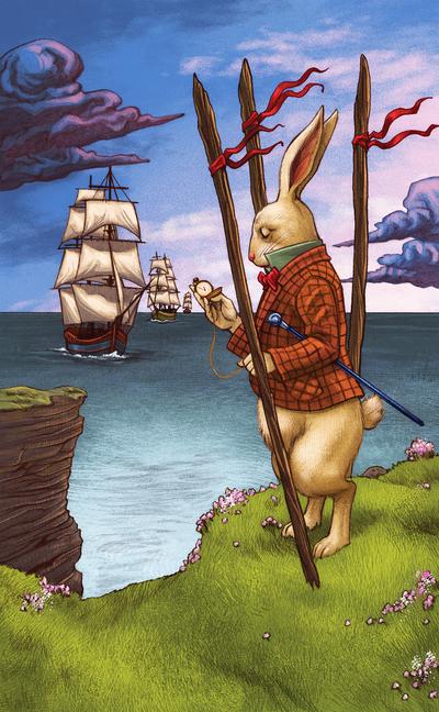 esmith-llewellynwonderland18-aliceinwonderland-thewhiterabbit-childrensbook-tarot-nature-landscape-literature-jpg