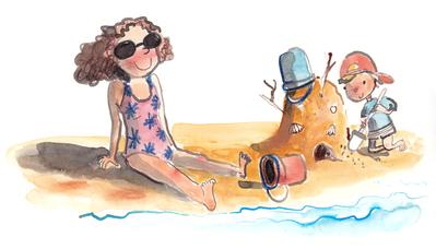 mom-son-beach-sea-sandcastle-boy-jpg