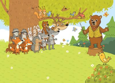 musical-forest-rehearsal-choir-bear-teacher-animals-fox-wolf-deer-raccoon-music-jpg