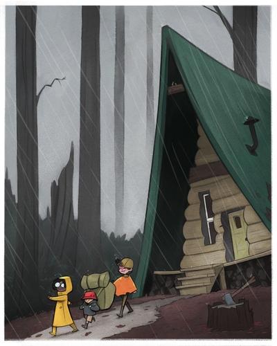 braden-hallett-boy-and-girl-camping-raining-cabin-forest-misty-4-of-8-jpg