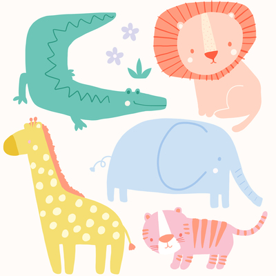 ap-safari-baby-animals-character-design