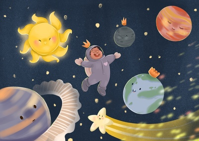 space-boy-with-planets