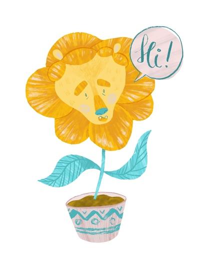 flower-lion-character-design