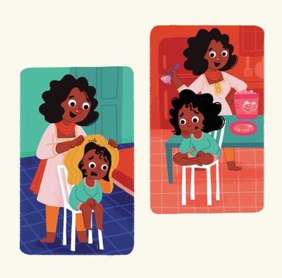 girl-home-mother-kitchen-bedroom-towel-chair-icecream-jpg