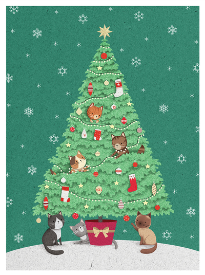 cats-in-a-christmas-tree