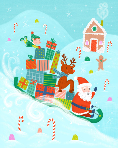 christmas-santa-elves-sleigh-presents-sled-gingerbread-reindeer-jpg