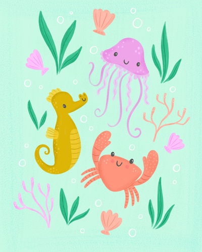 ocean-sea-crab-jellyfish-seahorse-jpg