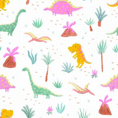 pattern-dinosaur-kids-botanical-tropical-volcano-jpg