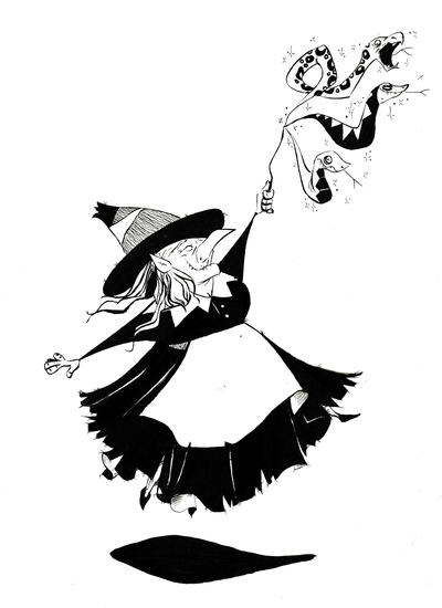 witch-magic-jumping-blackwhite-snakes-jpg