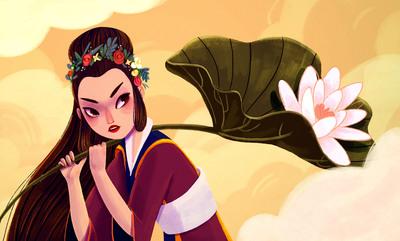 woman-mythology-leaf-flower-clouds-wind-long-hair-chinese-5-jpg