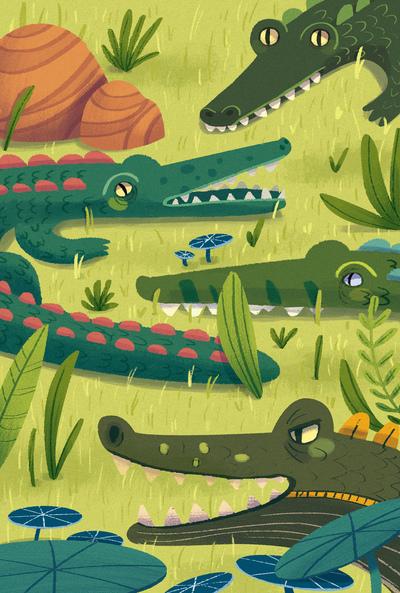 alligator-family-jungle-leaf-0-5-jpg