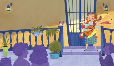 singing-singer-guitar-friends-bird-house-woman-jpg