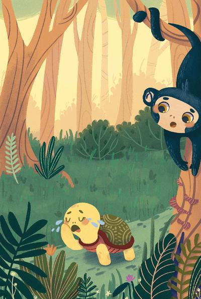 turtle-jungle-monkey-trees-plants-0-5-jpg