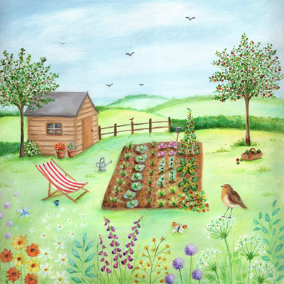 birthday-garden-deckchair-vegetable-plot-robin-flowers-jpg