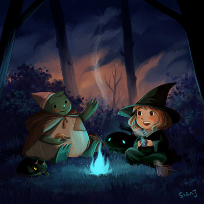 witch-forest-friends-campfire-jpg