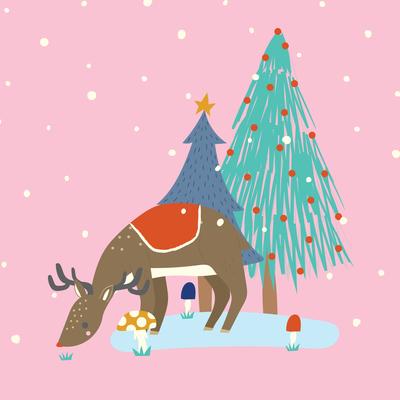 ap-deer-in-snowy-forest-christmas-greeting-card-woodland-01-jpg
