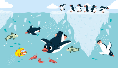 15penguins-friends-diving-splash-iceberg-jpg