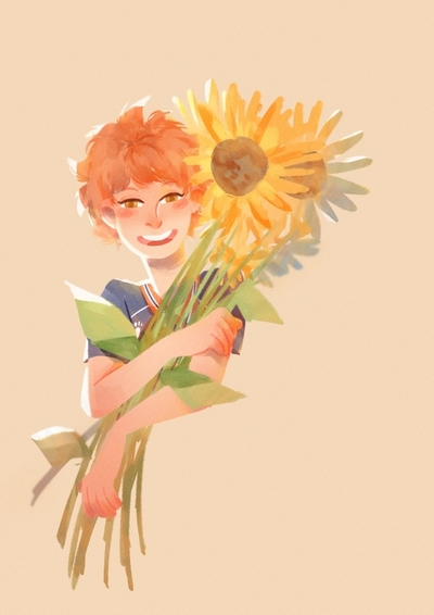 volleyball-flower-sunflower-boy-teen-redhair-smile-sport-jpg