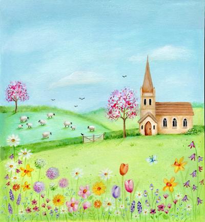 easter-church-sheep-flowers-blossom-jpg