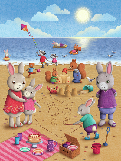 rabbits-beach-scene