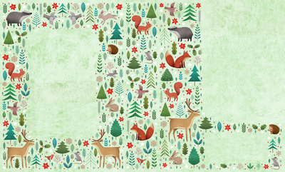 woodlands-animal-pattern-for-a-giftbag