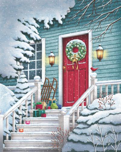 christmas-door-scene