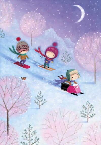 skiing-characters